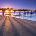 Shadows on the Beach - Hervey Bay Qld Australia by Beth  Wode