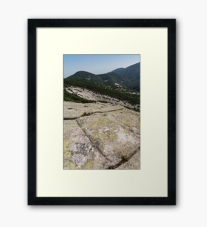Rock Power from the Past - Ancient Thracian Ceremonial Site Belintash Framed Print