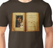 Outlander Wedding/Jamie & Claire in open book Unisex T-Shirt