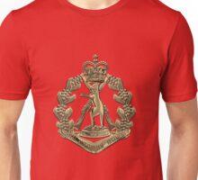 Royal Australian Regiment   -  RAR  Badge over Red Velvet Unisex T-Shirt