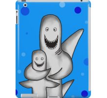 Happy Sharks drawing iPad Case/Skin