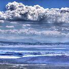 Clouds Over Mono Lake by Nancy Richard