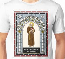 ST FRANCIS OF ASSISI under STAINED GLASS Unisex T-Shirt