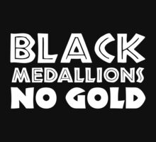 BLACK MEDALLIONS NO GOLD Kids Tee