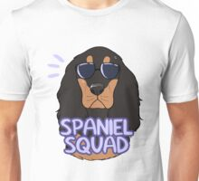 SPANIEL SQUAD (black and tan) Unisex T-Shirt