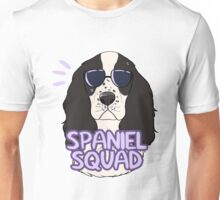 SPANIEL SQUAD (black and white) Unisex T-Shirt