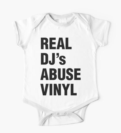 REAL DJ's ABUSE VINYL One Piece - Short Sleeve