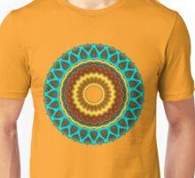 Southwestern Peacock Fractal Mandala Unisex T-Shirt
