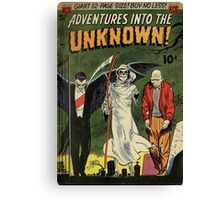 Adventures into the Unknown - Vampire and Friends Canvas Print