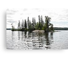 Little Island On the Lake Canvas Print