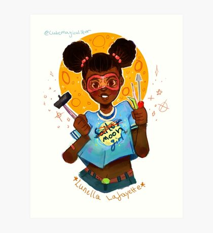 Moongirl Art Print