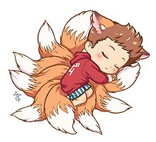 Sleepy Nogitsune by MGNemesi