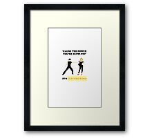 GREASE It's Electrifying! Design Framed Print
