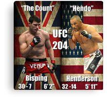UFC 204- Bisping - Henderson Canvas Print