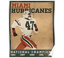 University of Miami National Champions  Poster