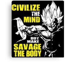 Make Savage The Body (Vegeta Squat) Canvas Print