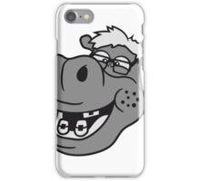 kopf gesicht nerd geek schlau freak dumm pickel zahnspange hornbrille lustig kleines süßes niedliches baby kind nilpferd glücklich  iPhone Case/Skin