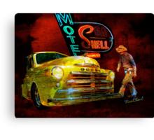 MoPar Cowboy Checks Out of Motel Shell Canvas Print