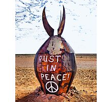 Rust in Peace Bomb  Photographic Print
