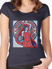 Gaia Is Coming Impression Women's Fitted Scoop T-Shirt