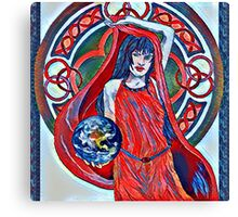 Gaia Is Coming Impression Canvas Print