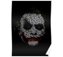 Dark Knight Joker - Typography Poster  Poster