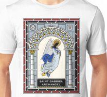 ST GABRIEL THE ARCHANGEL under STAINED GLASS Unisex T-Shirt