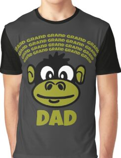 Funny Dad or Grandad Gift Cartoon Monkey Funny Text T-Shirt  Graphic T-Shirt