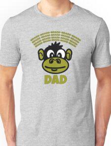Funny Dad or Grandad Gift Cartoon Monkey Funny Text T-Shirt  Unisex T-Shirt