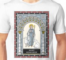 ST GENEVIEVE under STAINED GLASS Unisex T-Shirt