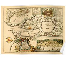 Map Of Halifax 1751 Poster