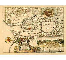 Map Of Halifax 1751 Photographic Print