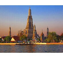 Wat Arun, (Temple of the Dawn), Bangkok, Thailand Photographic Print