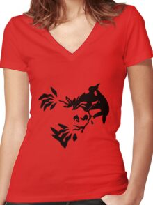 Yveltal Shadow Women's Fitted V-Neck T-Shirt