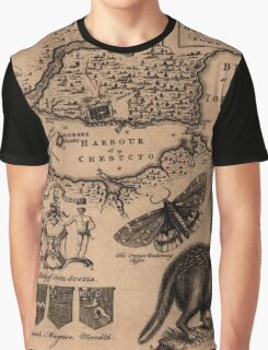 Map Of Halifax 1750 Graphic T-Shirt