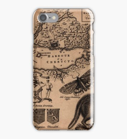 Map Of Halifax 1750 iPhone Case/Skin