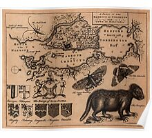 Map Of Halifax 1750 Poster