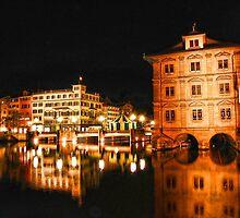 Night, Zurich, Switzerland. by vadim19