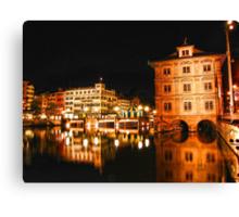 Night, Zurich, Switzerland. Canvas Print