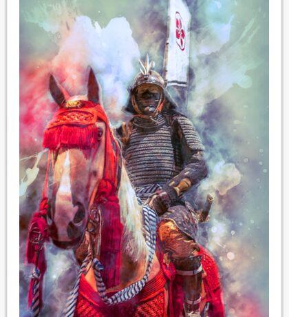 18th Century Samurai Warrior Sticker