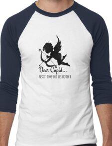 Cool Funny Ironic Love Joke Funny Cupid Text Men's Baseball ¾ T-Shirt