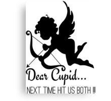 Cool Funny Ironic Love Joke Funny Cupid Text Canvas Print
