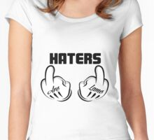 Haters Are Lame!  Women's Fitted Scoop T-Shirt
