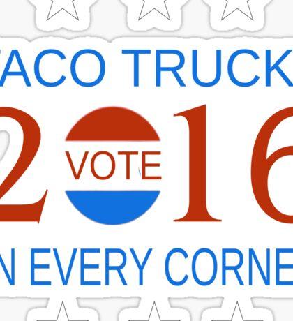 Taco Trucks in 2016 Sticker