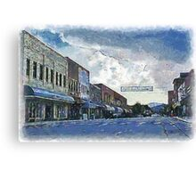 Street Banner in Historic Downtown Franklin, NC Canvas Print