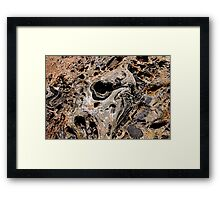 Pits And Grooves Framed Print