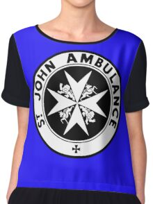 TARDIS St. John's Ambulance Logo (available as leggings!) Chiffon Top