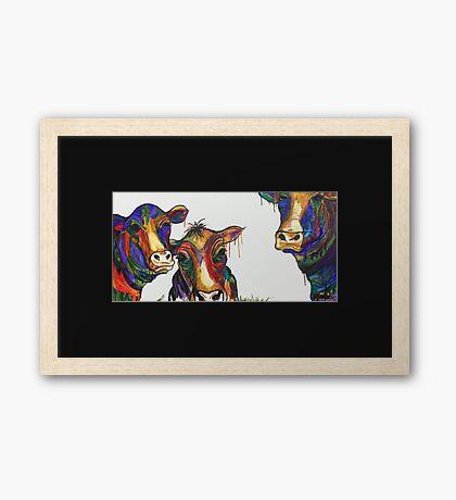 Moo-net 3 Framed Print