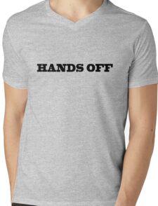 Hands Off Funny Cool Hipster Typography Mens V-Neck T-Shirt