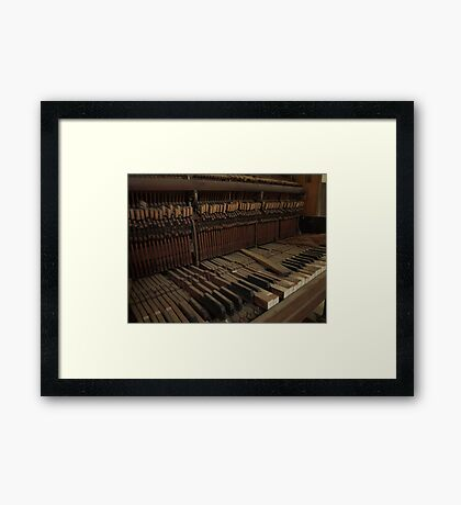 Broken Keys Framed Print